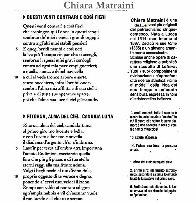 Chiara Matraini, (1515 - 1604) Rime