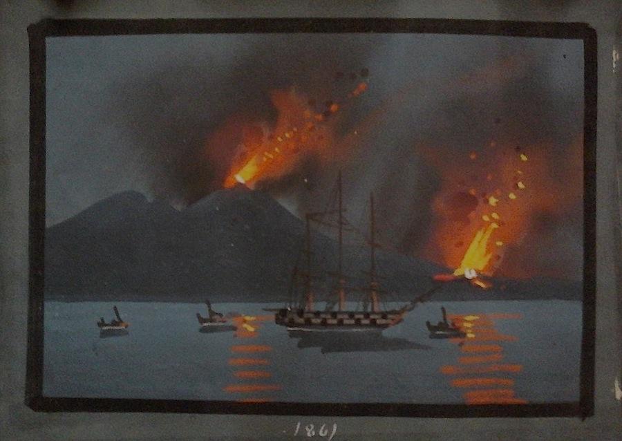 Vulcani, Veduta notte, Scuola di Posillipo