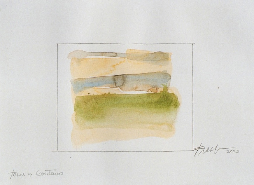 ©Alfonso Frasnedi, Tenue come un respiro, matita e acquerello, 2005