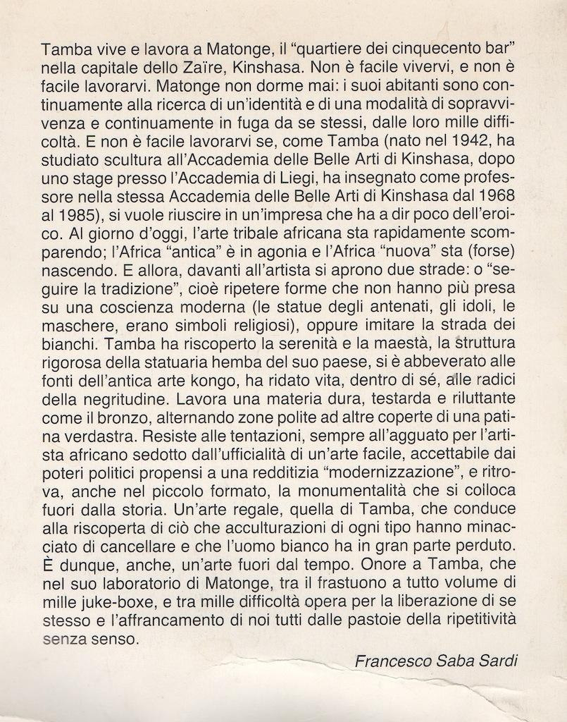 © Tamba,  di Francesco Saba Sardi
